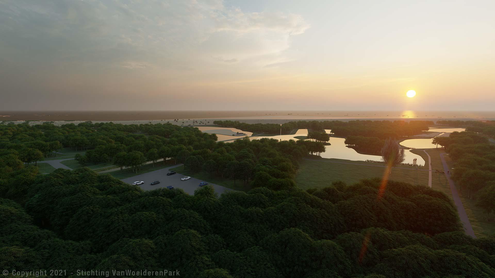streefbeeld-stichting-van-woelderen-park-2021-bird's-eye-view